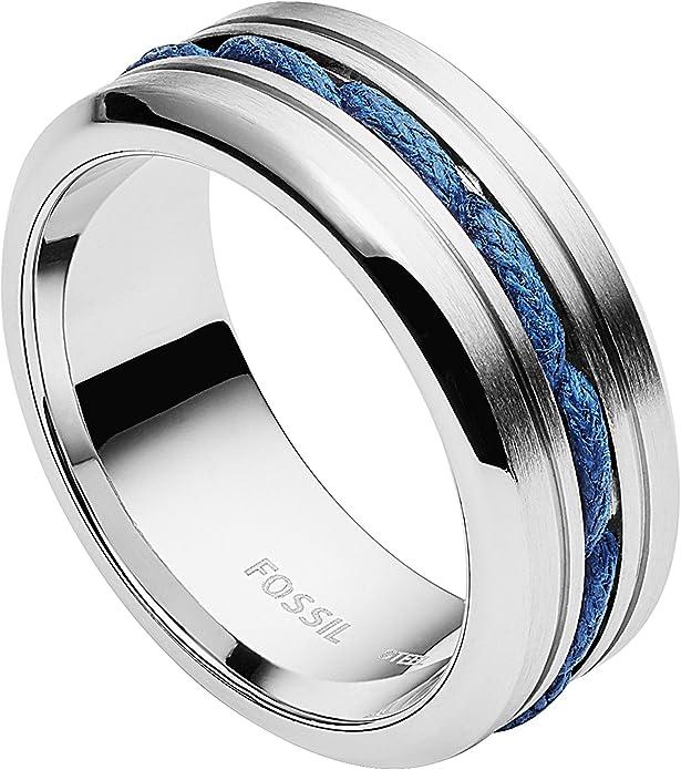 Fossil anillo talla 19 jf83566 caballeros joyas unisex acero inoxidable plata-de colores Jewelry