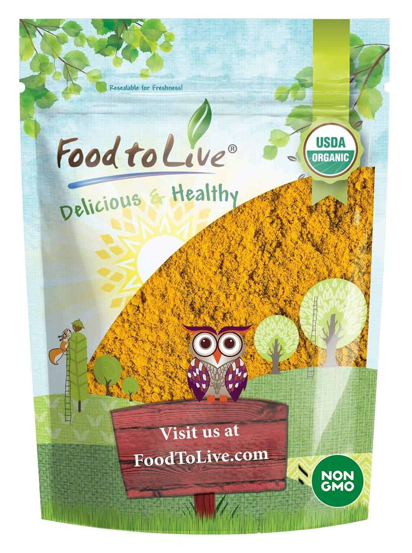 Organic Turmeric Powder, 2 Pounds — Rich in Curcumin, Non-GMO, Ground Turmeric Root, Raw, Kosher, Vegan, Bulk