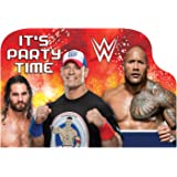 "amscan 490136 WWE Postcard Invitations, 8ct, Multicolor, 4 1/4"" x 6 1/4"""