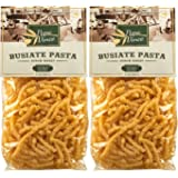 Papa Vince Pasta with flour from Italy - made with ancient wheat grown in Sicily | NON GMO | WHOLE GRAIN | NO ENRICHED | DIGEST EASY | AL DENTE macaroni holds sauce like a magnet (1.1 lb 2-Pack)