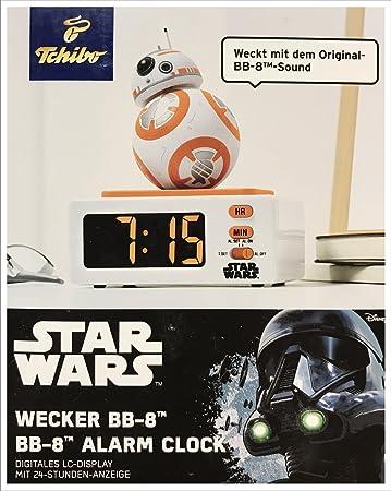 größte Auswahl von 2019 outlet neues Erscheinungsbild TCM Tchibo Star Wars BB-8 Wecker mit Original Sound Lizenzprodukt
