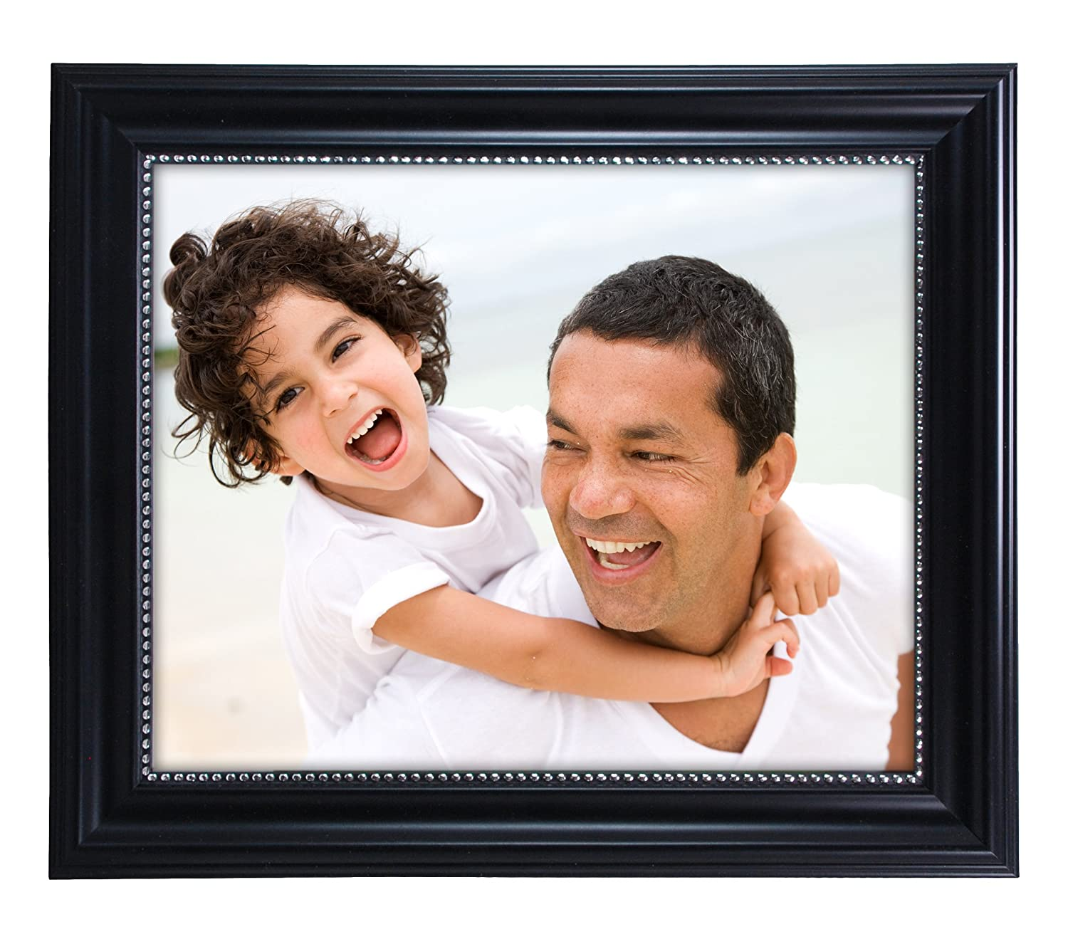 8 by 10-Inch Kiera Grace Lucy Picture Frame Black with Silver Beading AZ Home /& Gifts PH43895-9