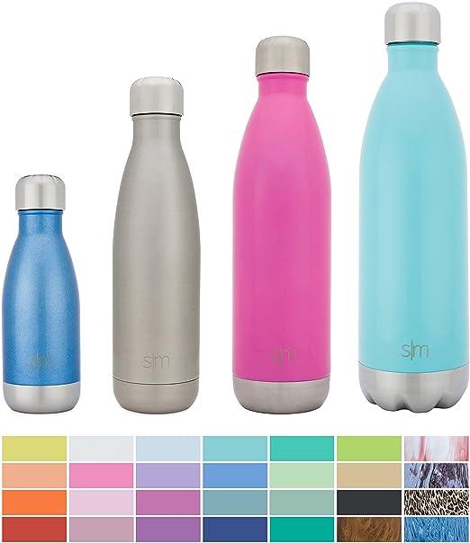 19 opinioni per Simple Modern Una bottiglia di acqua dell'acciaio inossidabile 17once argento