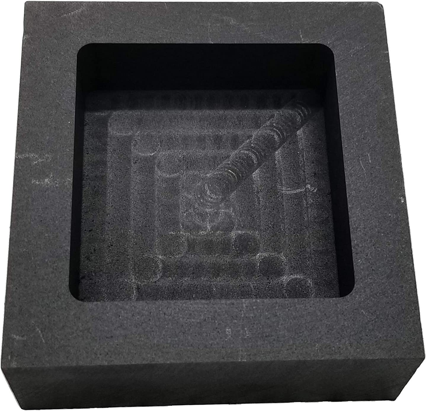 1,000 Grams Graphite Ingot Mold Crucible Mould for Casting Molding and Refining Jewelry Tool