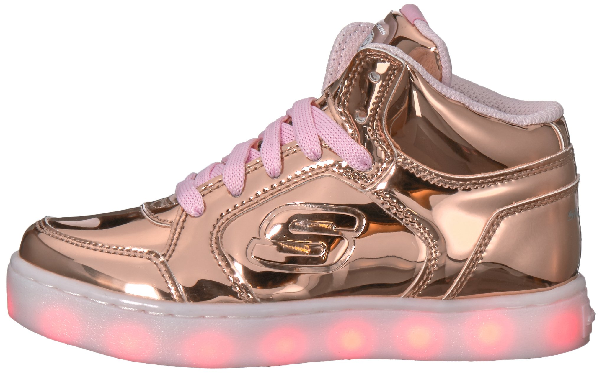 Skechers Kids Energy Lights-Dance-N-Dazzle Sneaker,Rose Gold,1 M US Little Kid by Skechers (Image #5)