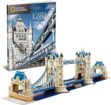 CubicFun Puzzle 3D Londres Tower Bridge, con National Geographic Folleto de Fotografía, 120 Piezas: Amazon.es: Juguetes y juegos
