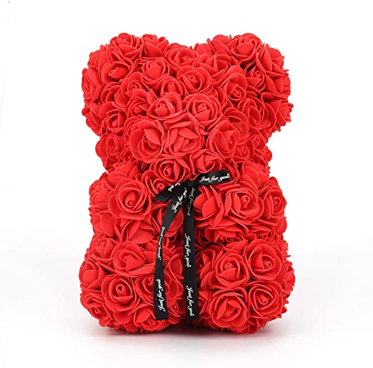 Amazon Com Rose Bear Teddy Fathers Day Mom Anniversary Best Perfect New Unique Handmade Gift Ideas For Lovers Women Men Teen Wife Husband Him Her Teen Son Daughter Valentine Wedding Birthday Love
