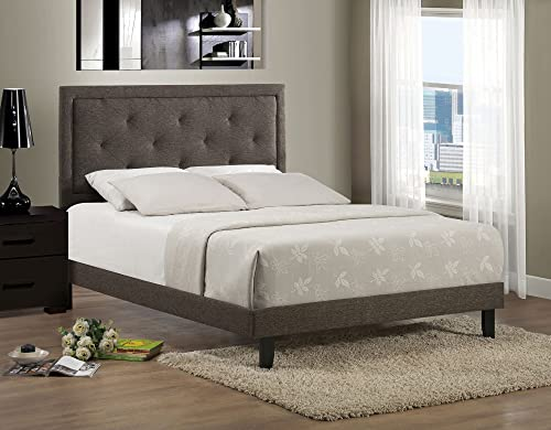Hillsdale Furniture Upholstered Panel Bed in Brown King – 81.25 in. L x 79 in. W x 52.25 in. H