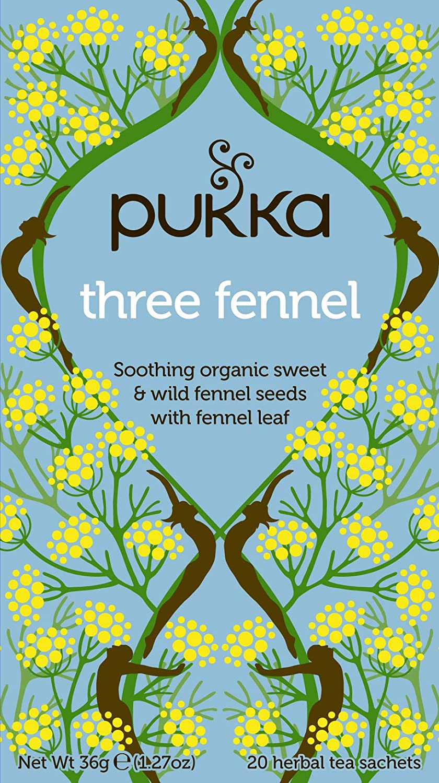 Organic Three Fennel Tea with Sweet Wild Fennel (20 Tea Bags