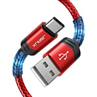 USB C Cable 3A Fast Charging, JSAUX [ 2 Pack 6.6FT ] Type-C to USB-A Charge Braided Cord Compatible with Samsung Galaxy…
