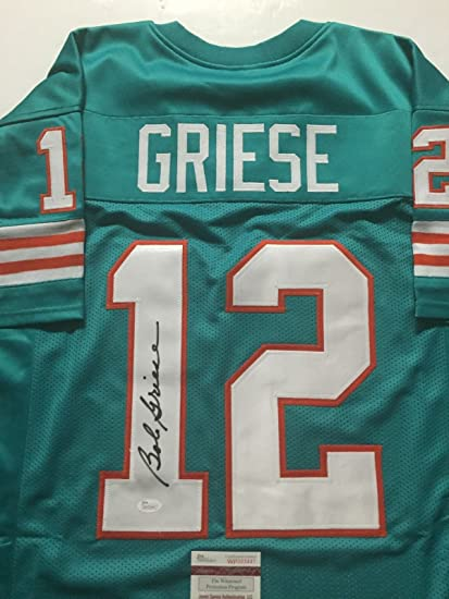 Autographed Signed Bob Griese Miami Teal Football Jersey JSA COA at ... d68508962d0