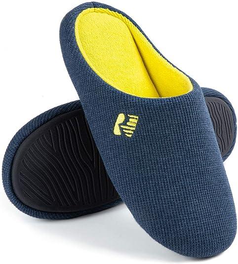 RockDove Pantoufles Originales Bicolores avec Mousse /à m/émoire de Forme pour Homme