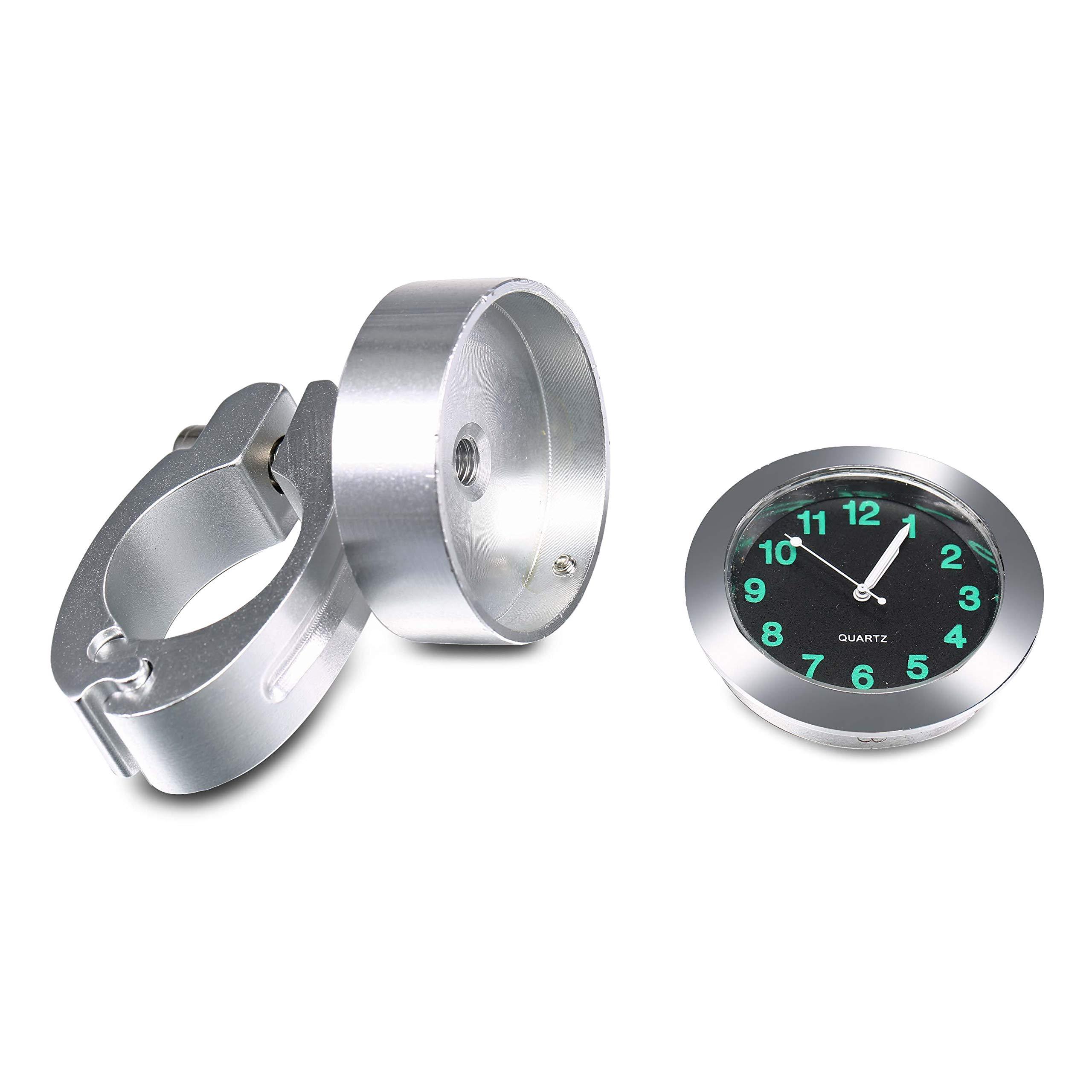 OHMOTOR Universal Waterproof Motorcycle Handlebar Mount Clock Fit 7/8'' or 1'' Handlebar Watch for Harley/honda/yamaha/street Bike by OHMOTOR (Image #4)