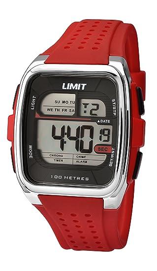 Reloj Digital Limit para Hombre con LCD Y Rojo Plástico 5564.24: Amazon.es: Relojes