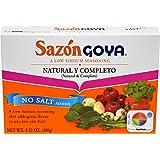 Goya Sazon Seasoning Natural & Complete No Salt, 3.52 Ounce