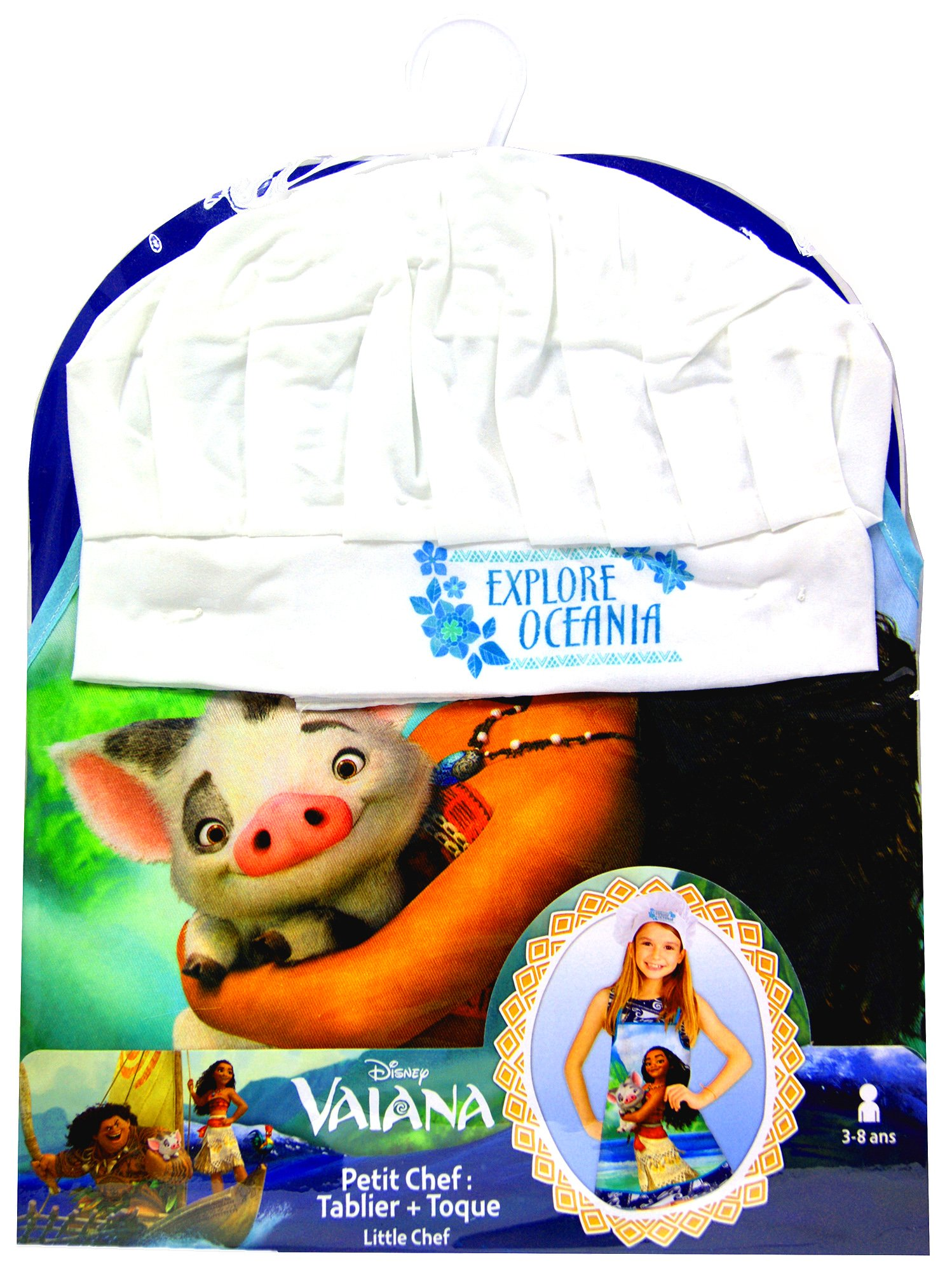 Disney Moana/Vaiana Apron and Chef's Hats Set, Officially Licensed. by Disney (Image #3)