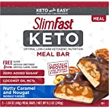SlimFast Keto Meal Replacement Bar - Nutty Caramel & Nougat - 5 Count - Pantry Friendly