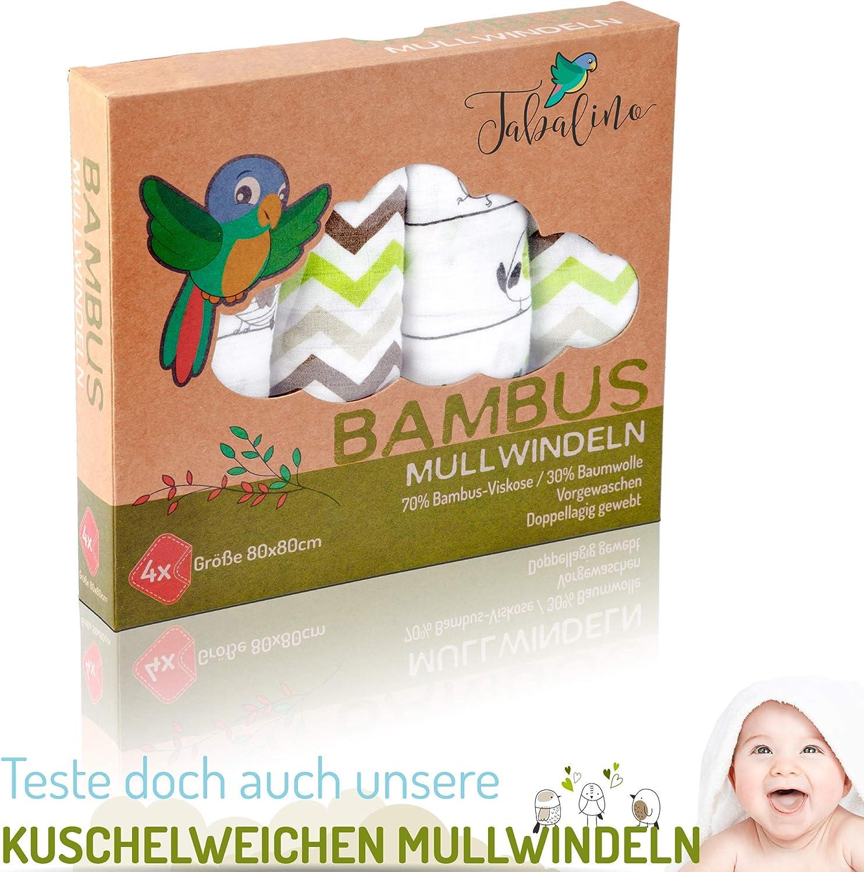 Tabalino ▪ Weiches Schmusetuch Schnuffeltuch Baby zum Kuscheln und Einschlafen ▪ 30x30cm ▪ ab 0 Monate ▪ Geschenk Geburt ▪ Junge /& M/ädchen ▪ gr/ün