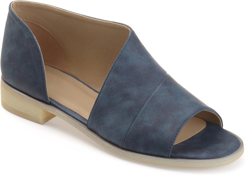 SO Women/'s Oarfish Black//Metallic  2 Piece Open Toe Flats-Size 7.5//9.5 NWOB