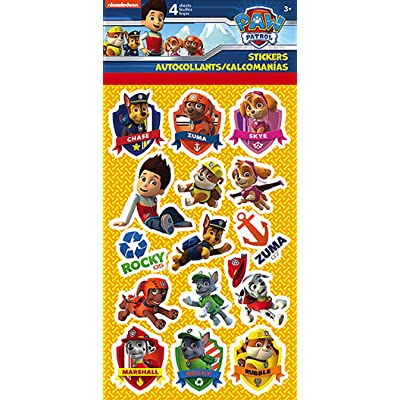 Paw Patrol Standard Stickers - 4 Sheet: Toys & Games
