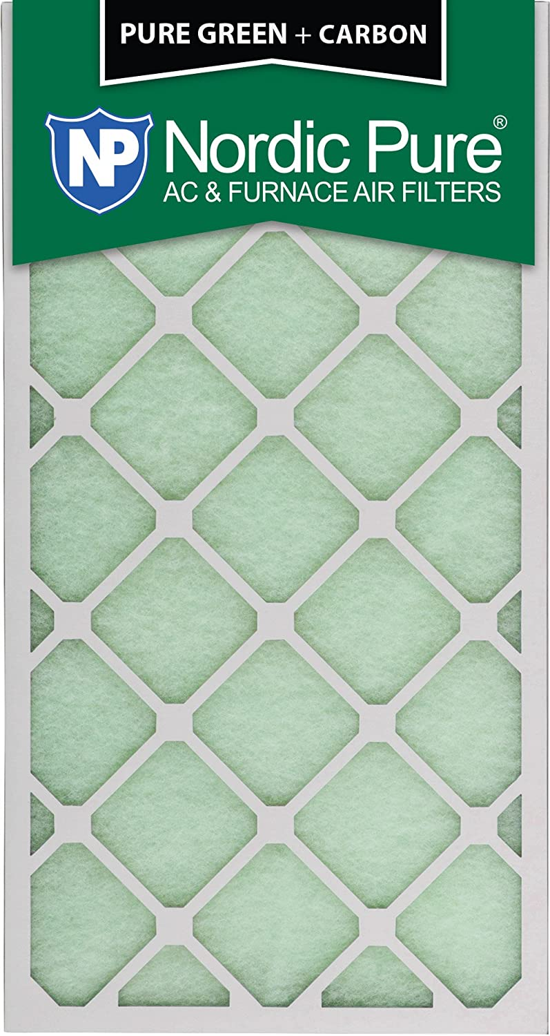 3 Pack 3 Piece Nordic Pure 12x30x1 Pure Green Plus Carbon Eco-Friendly AC Furnace Air Filters