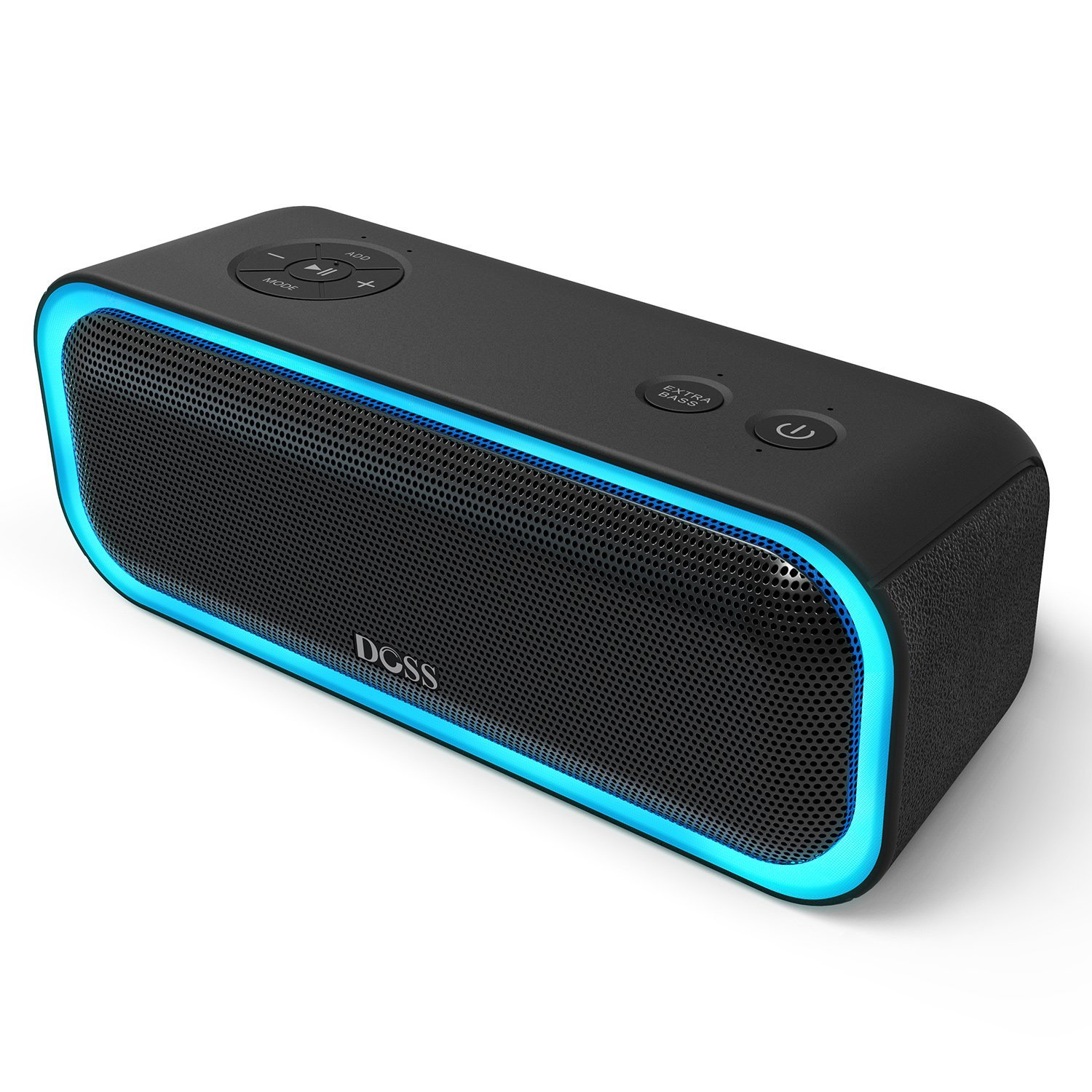 DOSS SoundBox Pro Wireless Bluetooth Speaker, 20W Speaker with 360° Sound, Enhanced Bass, Stereo Pairing, Multiple LED Light, Long-Lasting Battery Life for iPhone, Samsung, iPad, Echo dot, Good Gift by DOSS