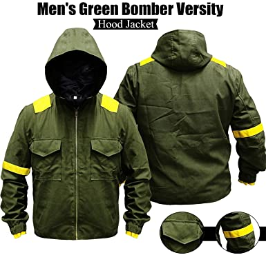 38125a1584fb1 Green Bomber Versity Twenty One Hi-Quality Cotton Pilots Hood Jacket ...
