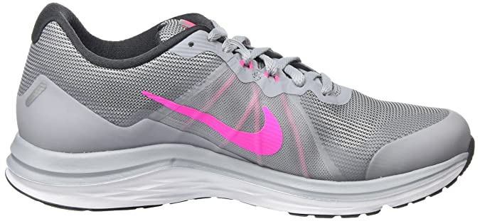 new style 31592 ee108 Nike Dual Fusion X 2, Chaussures de Running Femme, Gris (Gris  Loup Blanc Anthracite Explosion Rose), 40.5 EU  Amazon.fr  Chaussures et  Sacs