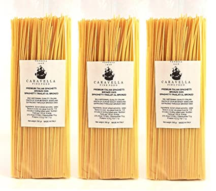 (Pack de 3 a ahorrar en coste de envío!) Caravella Premium Espaguetis Artesanal