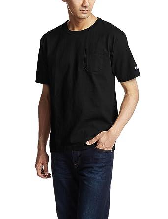 a20ec5eb43e452 Amazon | [チャンピオン] T1011 半袖Tシャツ ポケット付き ワンポイントロゴ C5-B303 メンズ | アクティブシャツ・Tシャツ  通販
