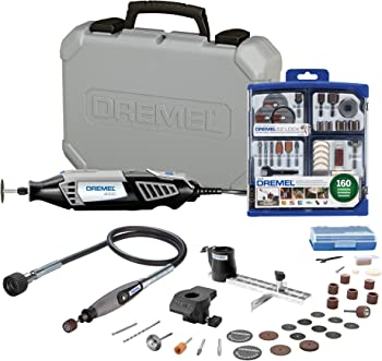 Dremel 120-Volt Rotary Tool Kit + Accessory Kit + Shaft Attachment
