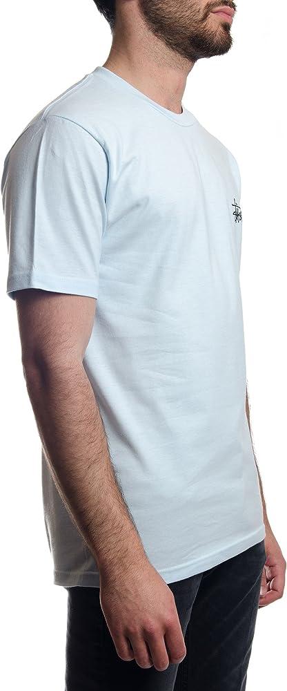 Stussy Camiseta STÜSSY Basic Tee Hombre Azul M: Amazon.es: Ropa y accesorios