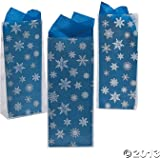 Frosted Snowflake Treat Bags - Winter & Party Supplies