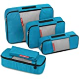 Travel Packing Cubes, Gonex Luggage Organizers L+M+2Slim+Laundry Bag Blue