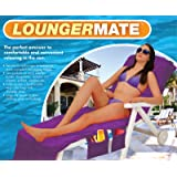 Lounger Mate Beach Towel Sun Lounger For Holiday Garden Lounge with Pockets - Purple