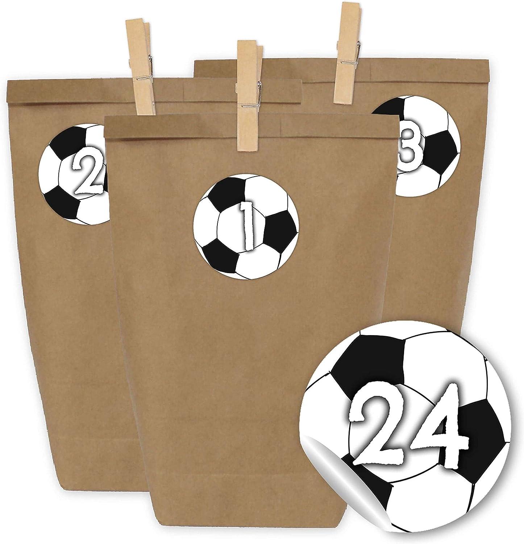 Papierdrachen 24 Bolsas de Papel con Pegatinas + 24 Pinzas de ...