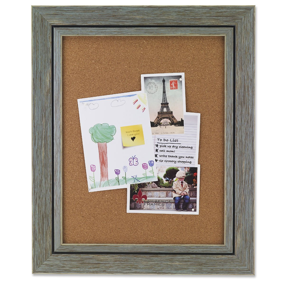 Amazon.com - Lawrence Frames Weathered Decorative Corkboard Frame ...