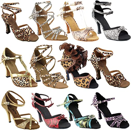Ballroom Salsa Wedding Clubing Swing 50 Shades Animal Prints Ballroom Latin Dance Shoes for Women