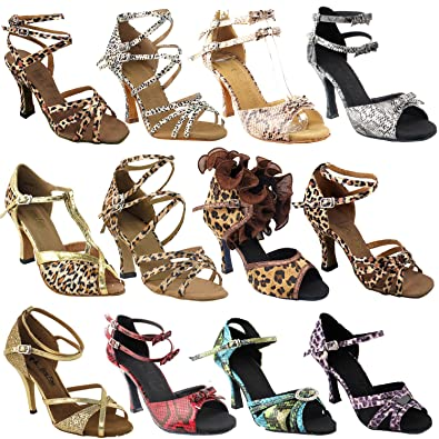 be21a7033 Amazon.com | 50 Shades Animal Prints Ballroom Latin Dance Shoes for Women: Ballroom  Salsa Wedding Clubing Swing | Ballet & Dance