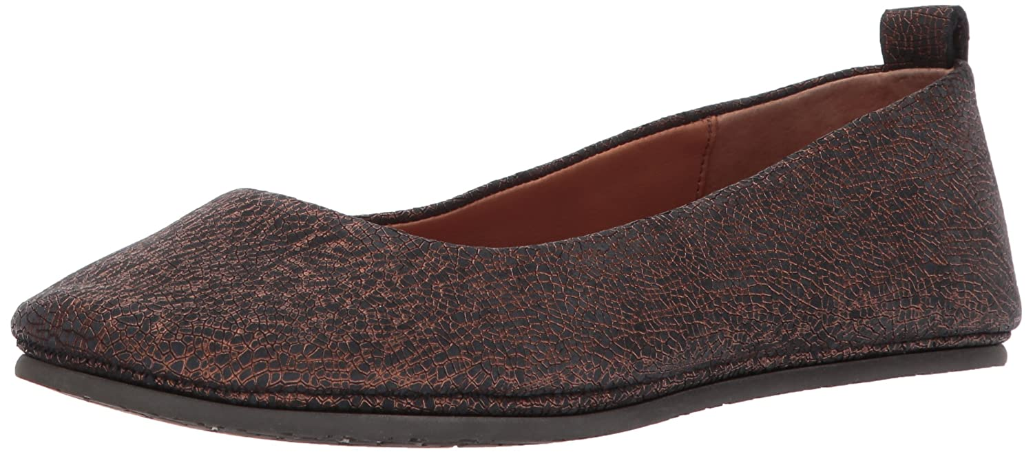 Gentle Souls by Kenneth Cole Women's Dana Round Toe Ballet Flat Leather- Embossed Ballet Flat B06XKWQXFR 7.5 B(M) US|Bronze