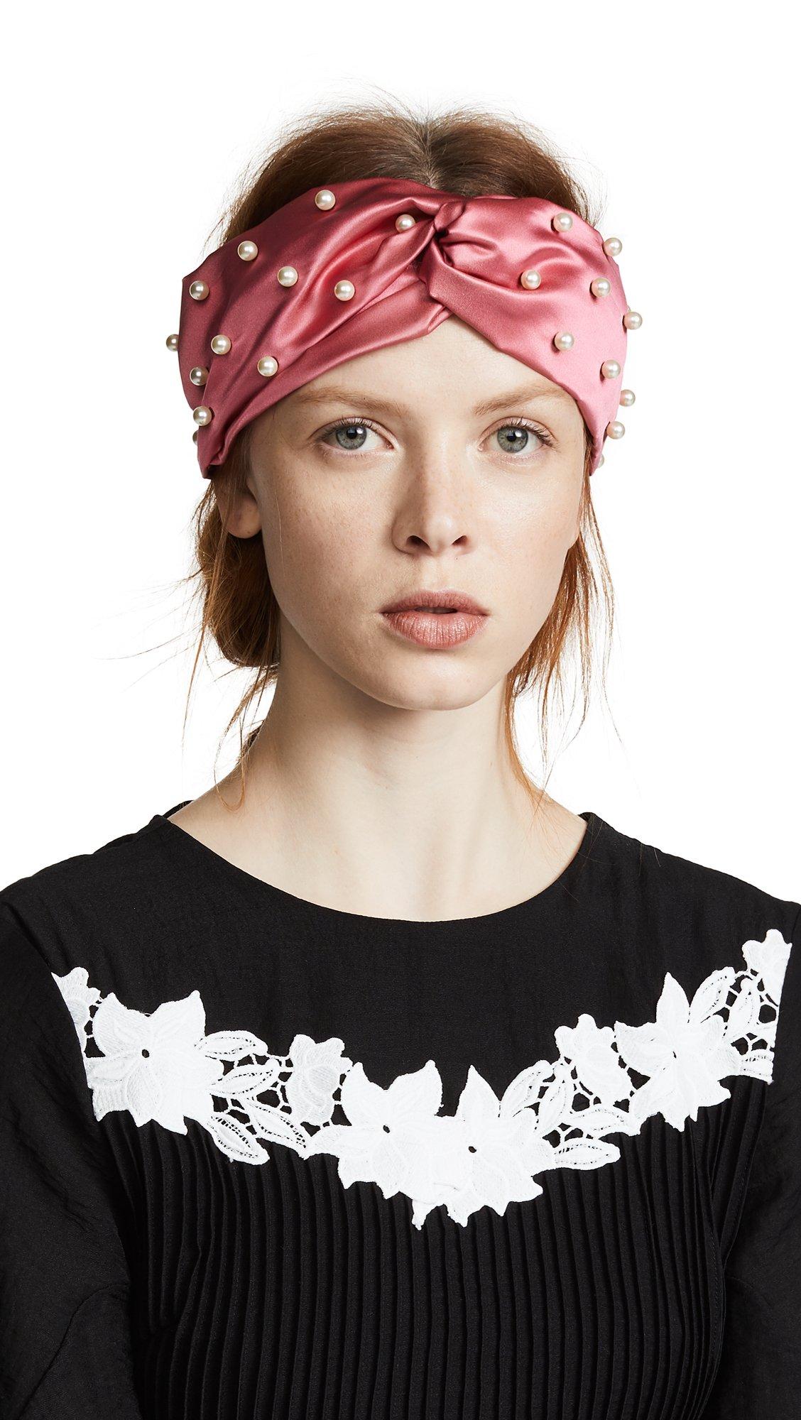 Jennifer Behr Women's Imitation Pearl Turban Headband, Tea Rose, One Size by Jennifer Behr