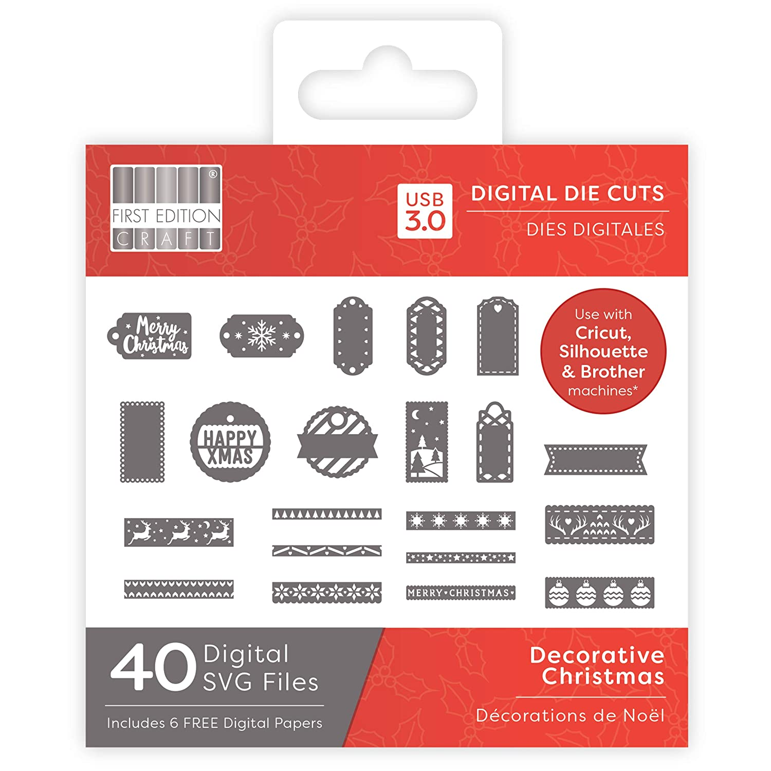 First Edition Digital Christmas Dies Buildable