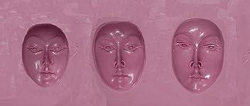 Round Tribal Mask Mold Fleximold Silicon Mold 3 Sizes