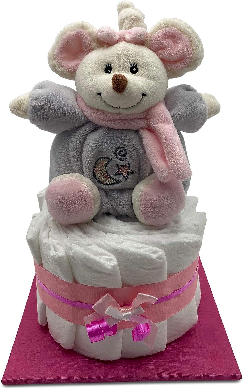 das perfekte Geschenk zur Geburt Inkl Windeltorte mit kuscheliger Spieluhr gratis Klappkarte