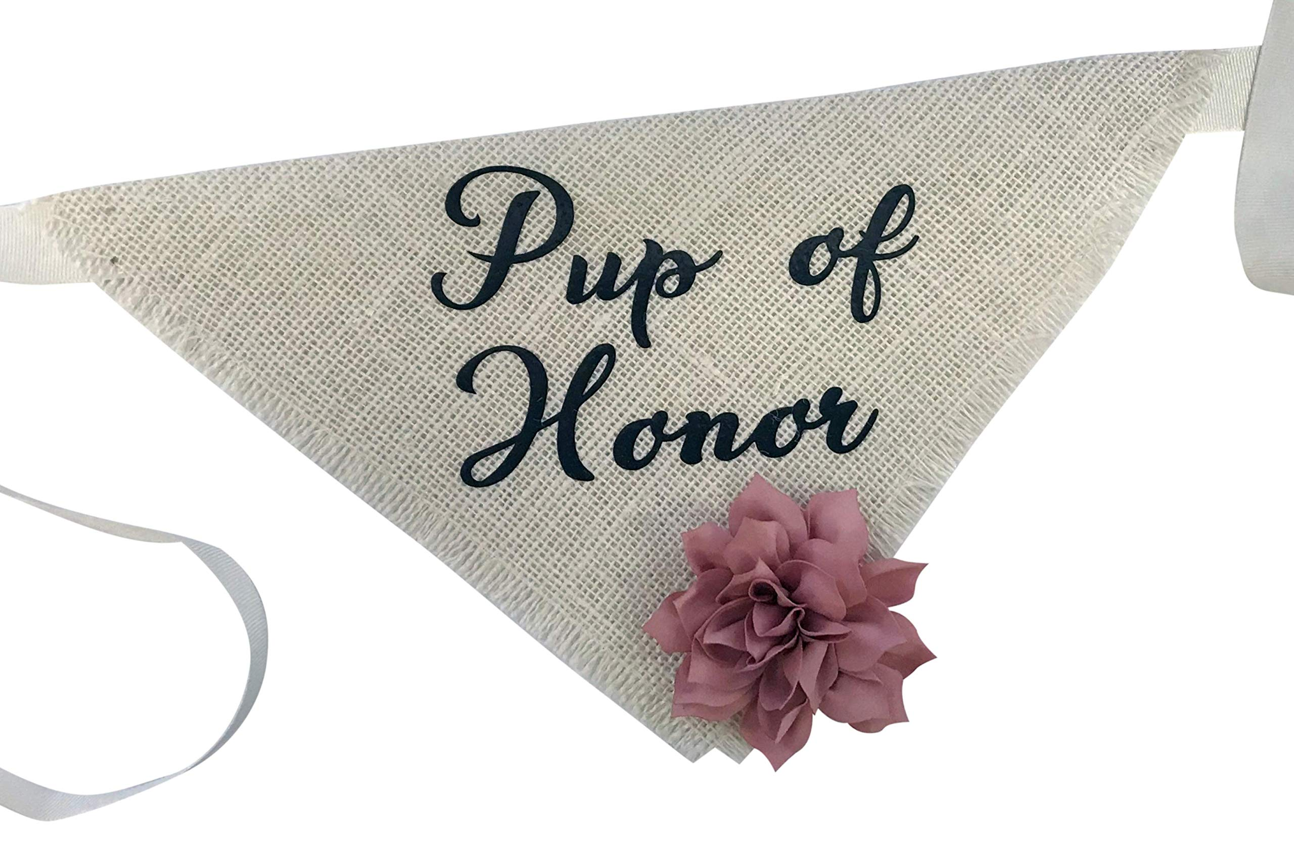 Hello Hazel Company Pup of Honor Wedding Dog Bandana (Small)