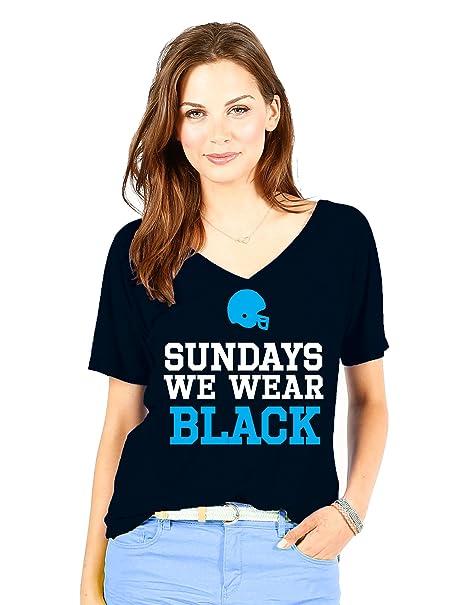 Amazon.com   Wishbone NFL Carolina Panthers Women s Sundays Tee ... c05862be1744