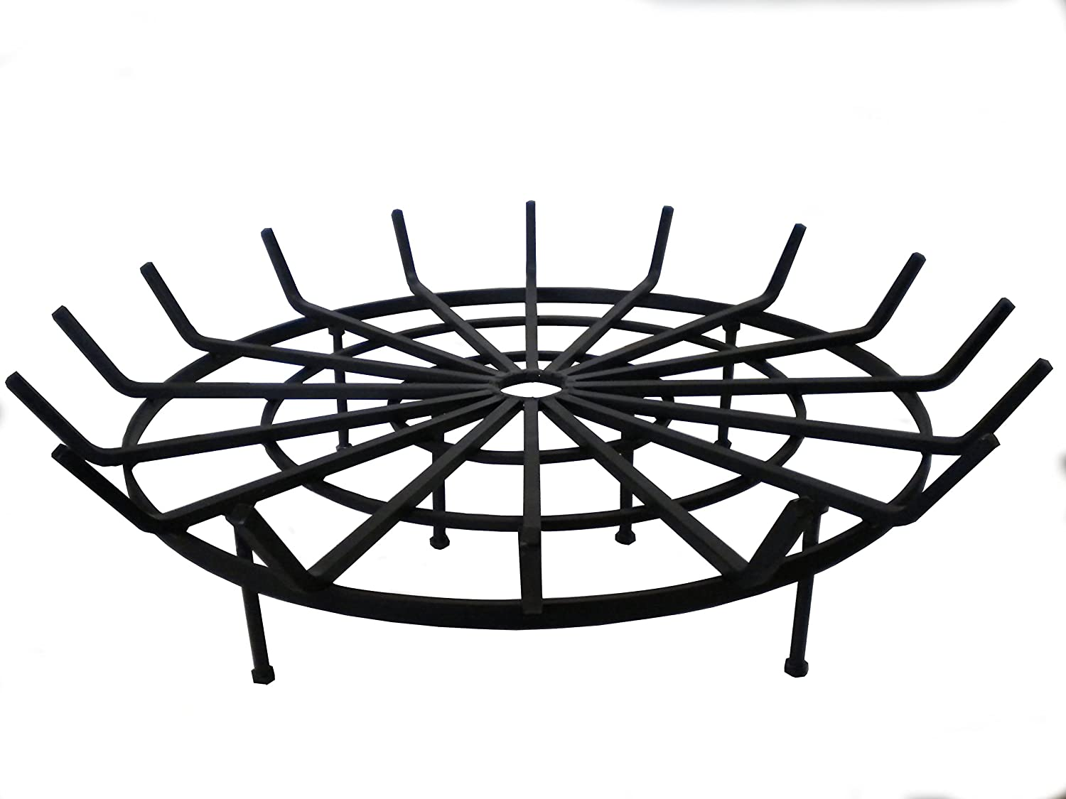 B M SALES Round Spider Grate for Outdoor Fire Pit 34 Diameter 6 Legs