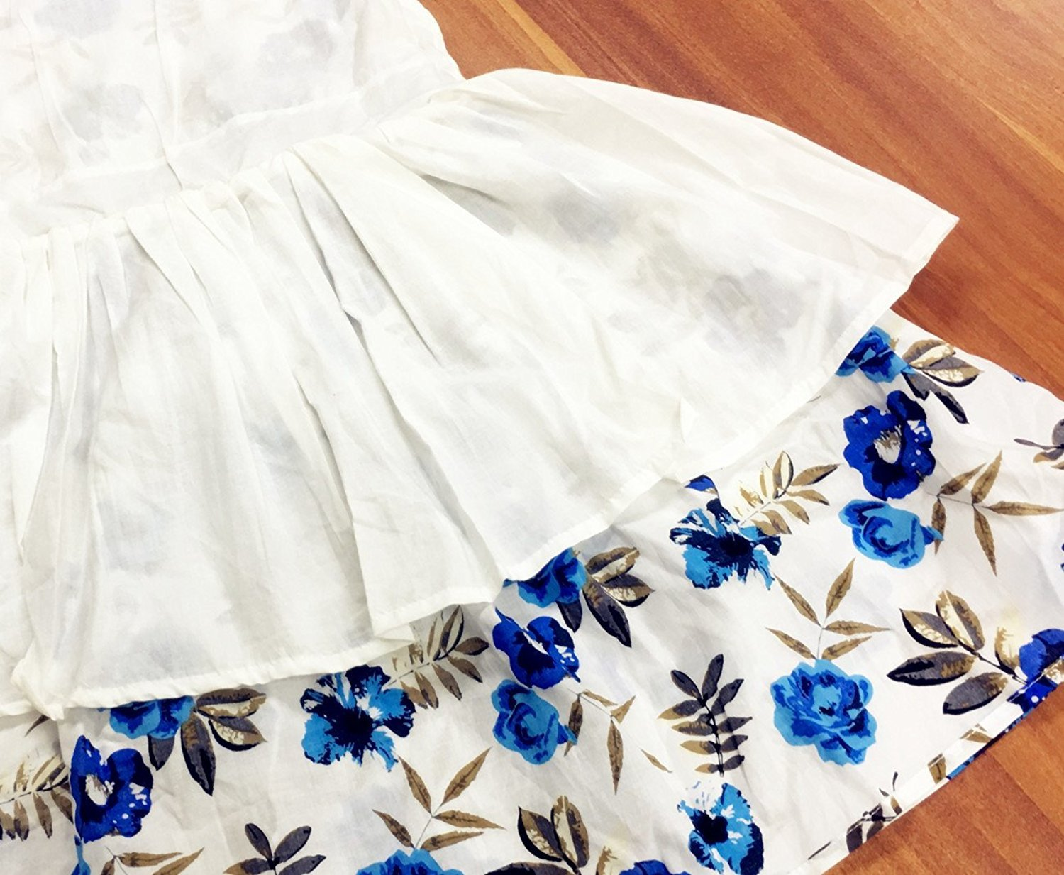 Little Girls Dresses Floral Dress Roses Printed with Bowknot Sleeveless Casual Dress for Toddler 6-7Y by Little Hand (Image #5)