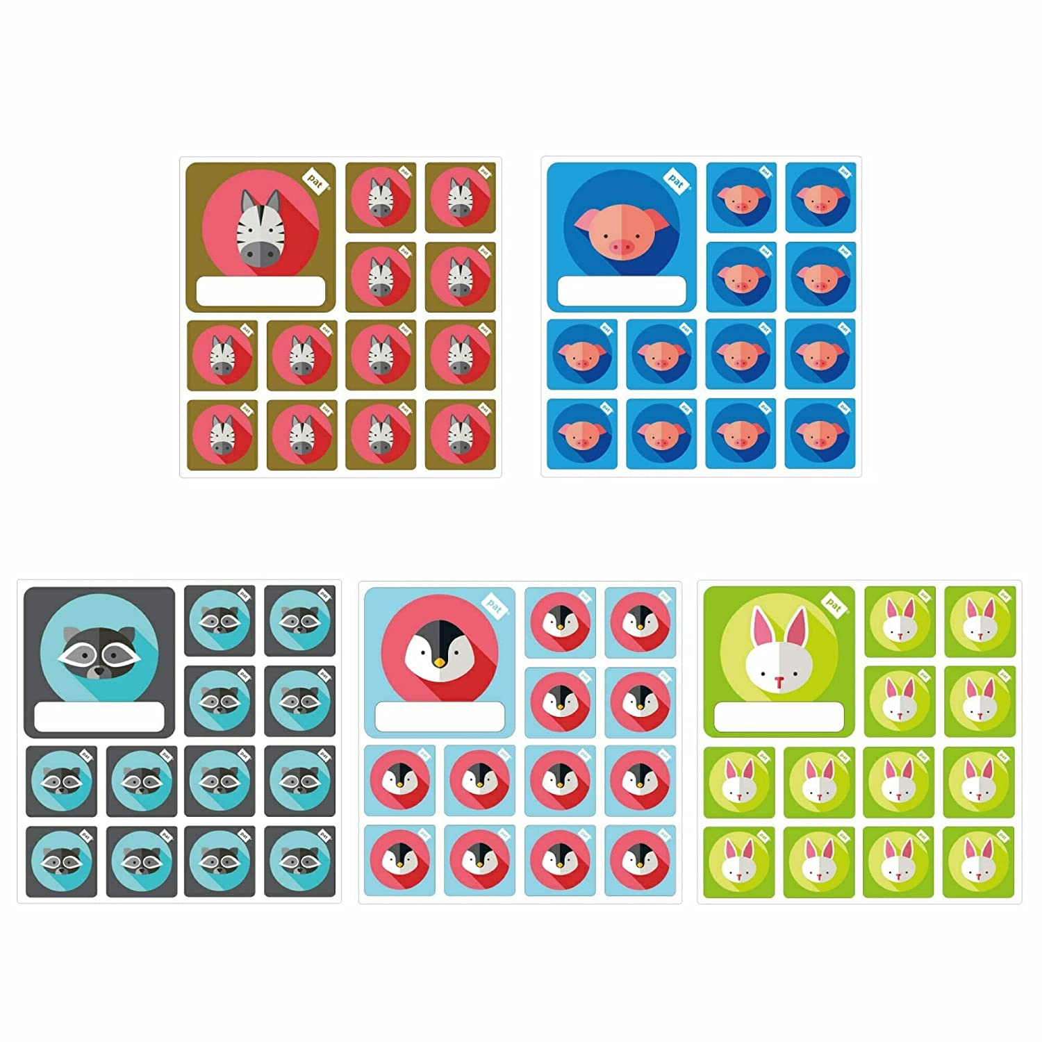 Team Icon set 5 x per Scrum Board PATboard.com