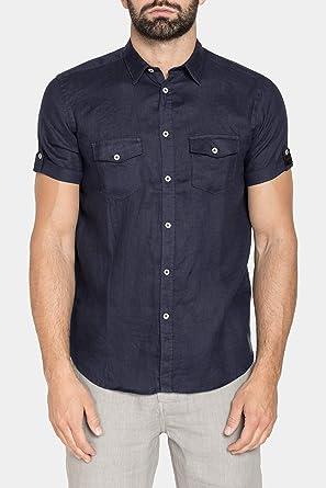 Carrera Jeans - Camisa para Hombre, Color Liso ES M: Amazon.es: Ropa y accesorios